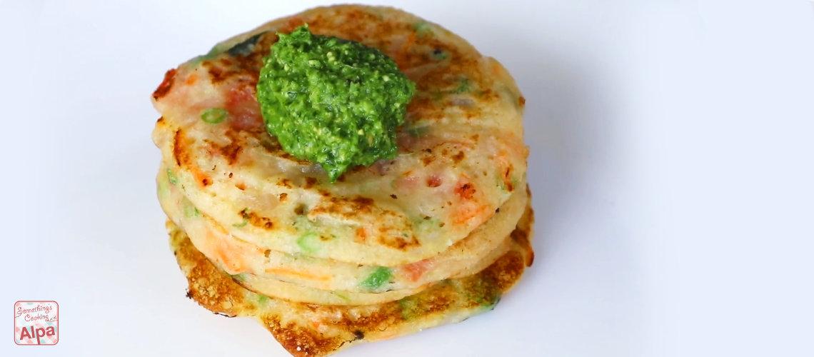 Instant Rava Uttapam Recipe