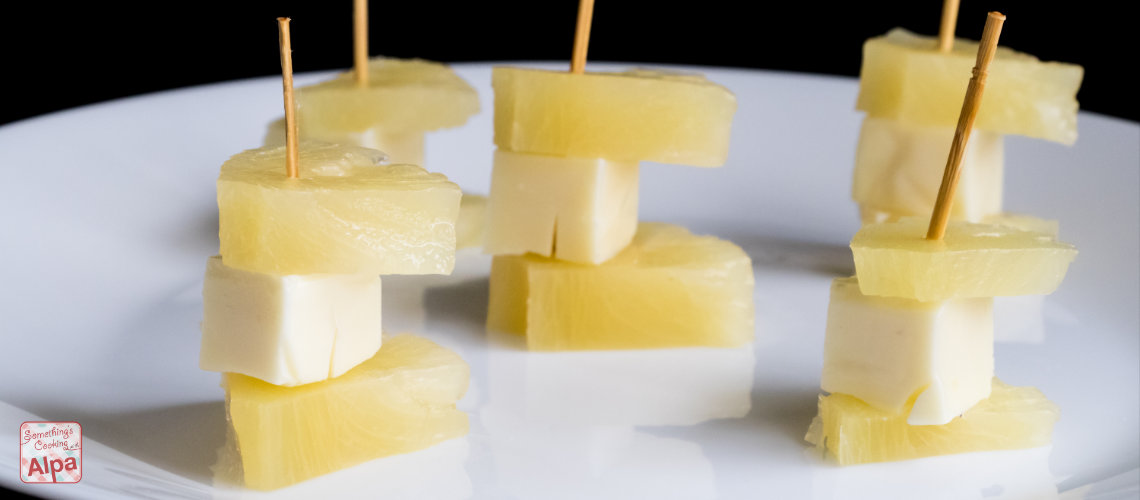 Super Easy Starter Recipe – Cheese and Pineapple Sticks