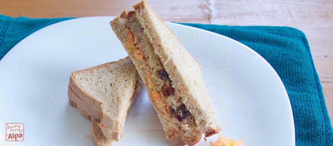 Apple Carrot Dates Healthy Sandwich Recipe