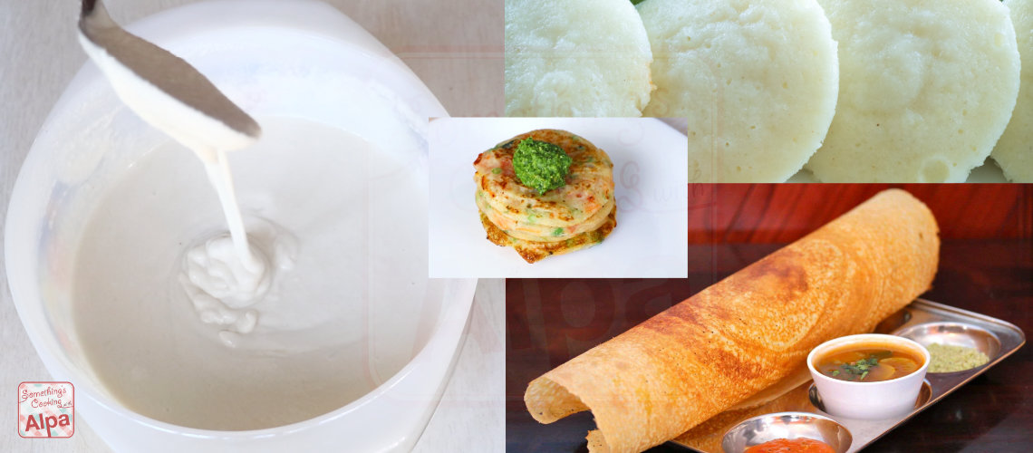 Homemade Idli Dosa Batter Recipe
