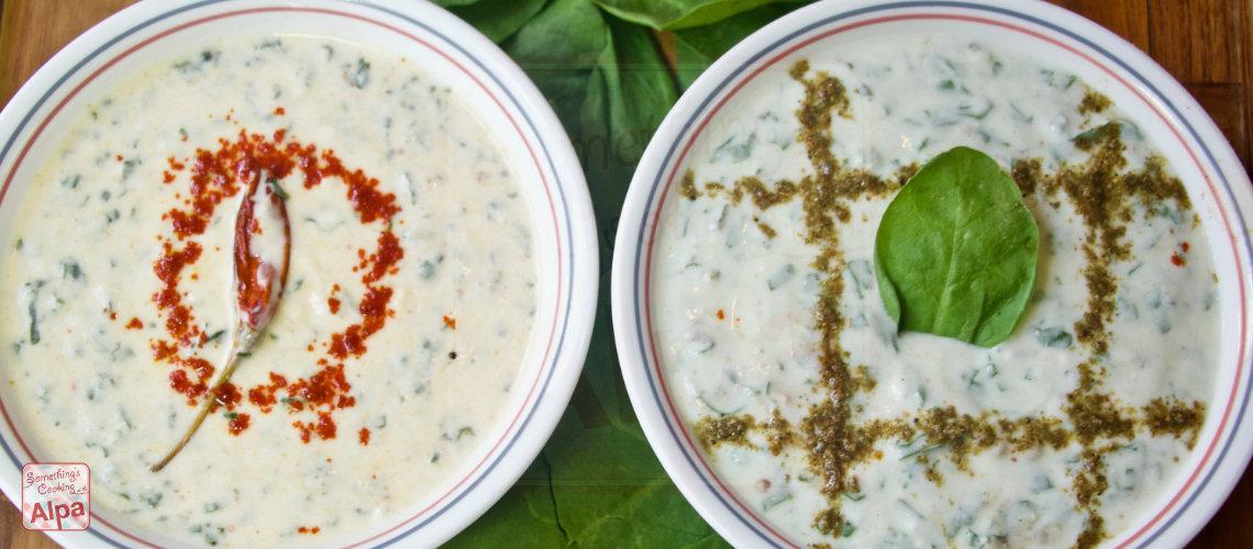 2 Healthy Palak Raita Recipe