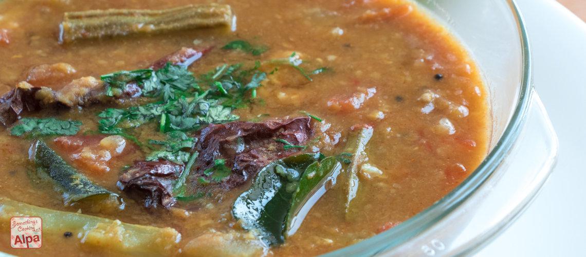 South Indian Sambar Recipe –  Perfect for idli, dosa, medu vada or rice