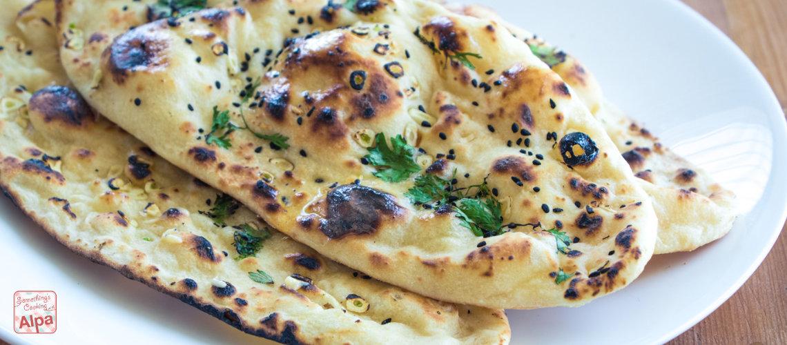 Garlic Naan Restaurant Style –  No Tandoor, No Oven, No Yeast.