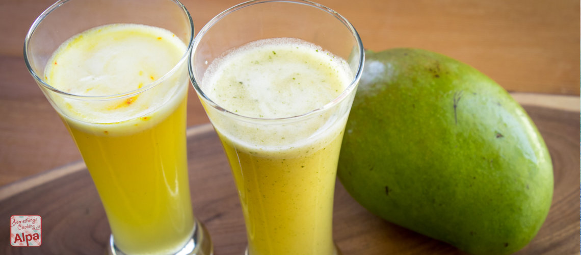 Two ways to make Aam Panna