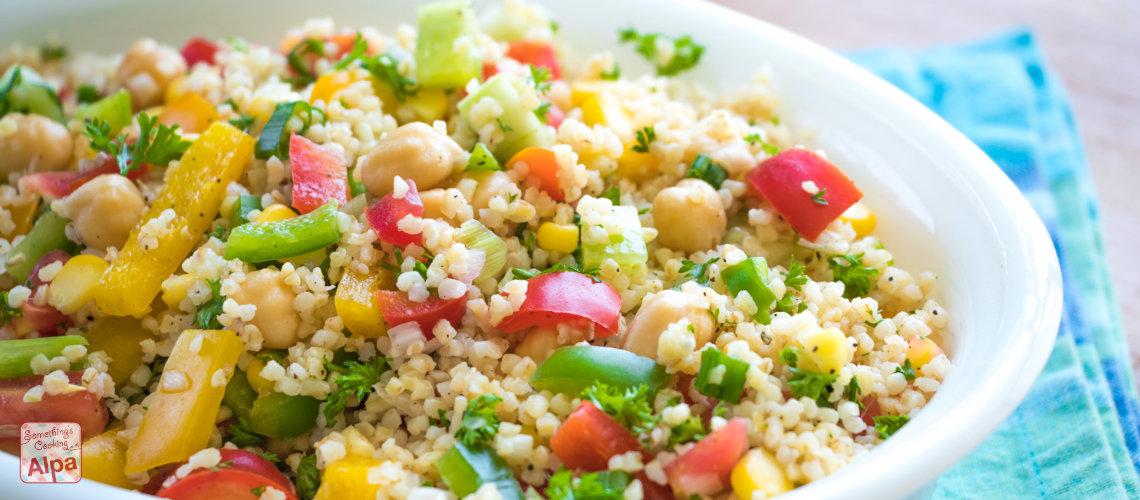 Vegetarian Healthy salad recipe – Couscous salad