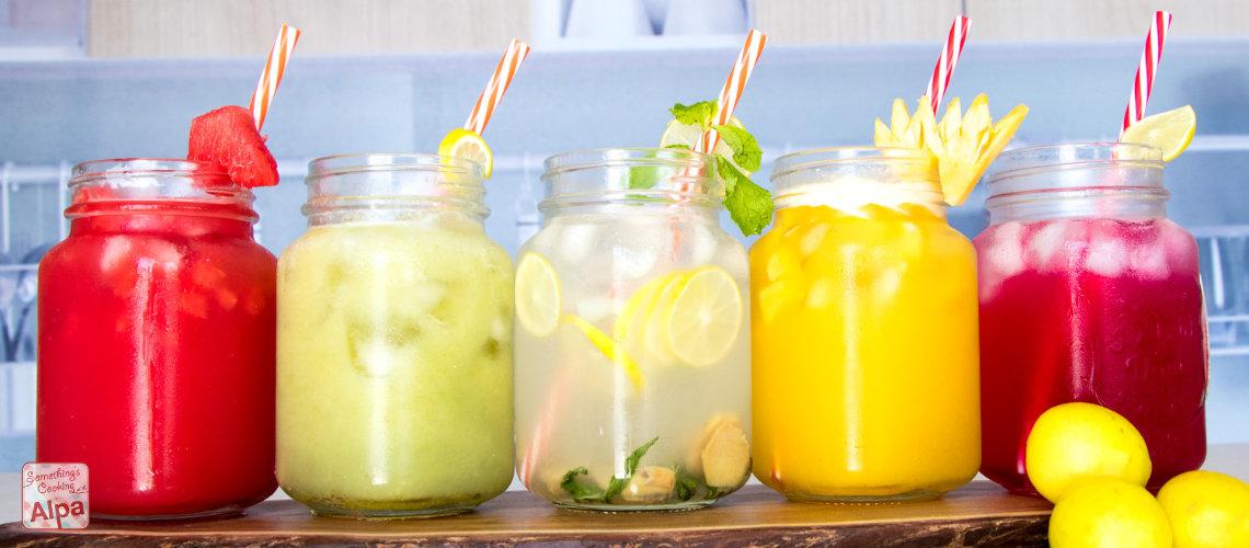 5 Lemonade Recipes – Nimbu Pani 5 types. Refreshing summer drink