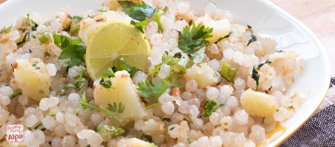 Authentic Sabudana Khichdi recipe for fasting, How to soak sabudana.