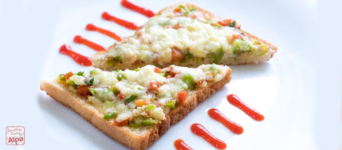 Chilli Cheese Toast Recipe on Tawa