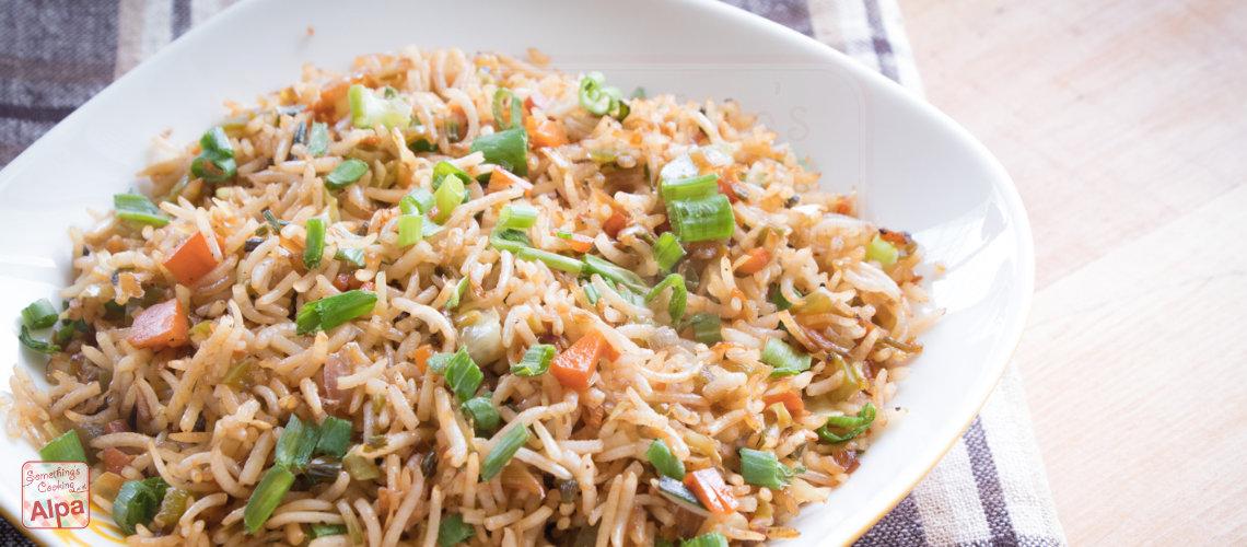 Veg Fried Rice Restaurant Style