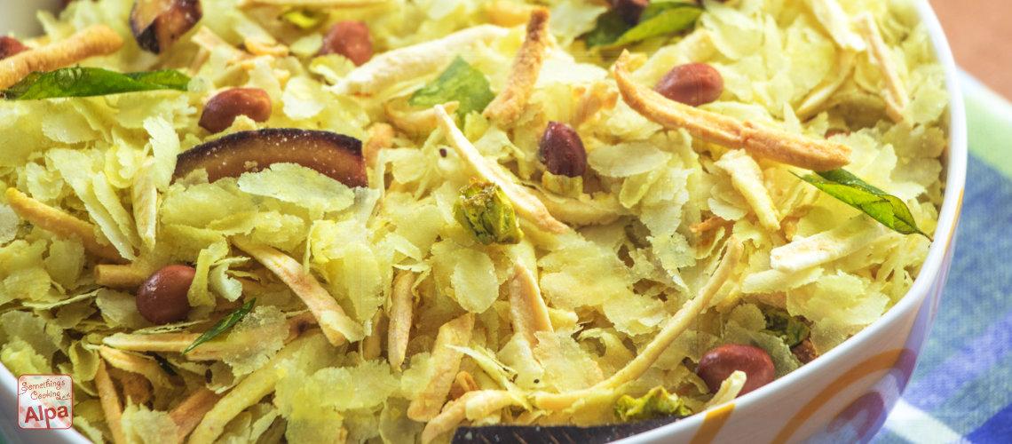 Khatta Mitha Poha Chivda Recipe, Snacks