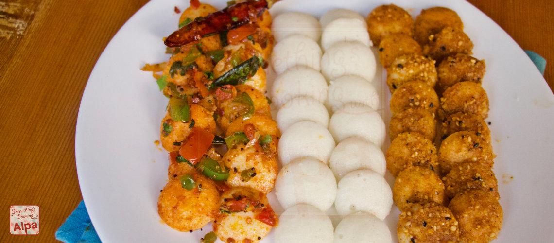 Mini Idli recipe- Chatpati Masala Mini Idli and Podi Idli