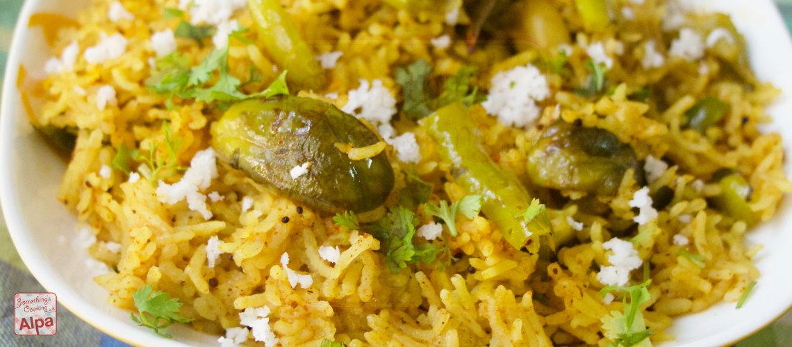 how to make Maharashtrian Masala Bhat