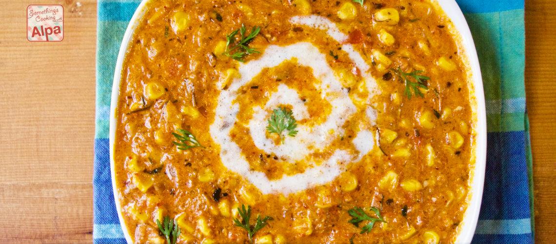 Creamy Masala Corn Sabzi Recipe
