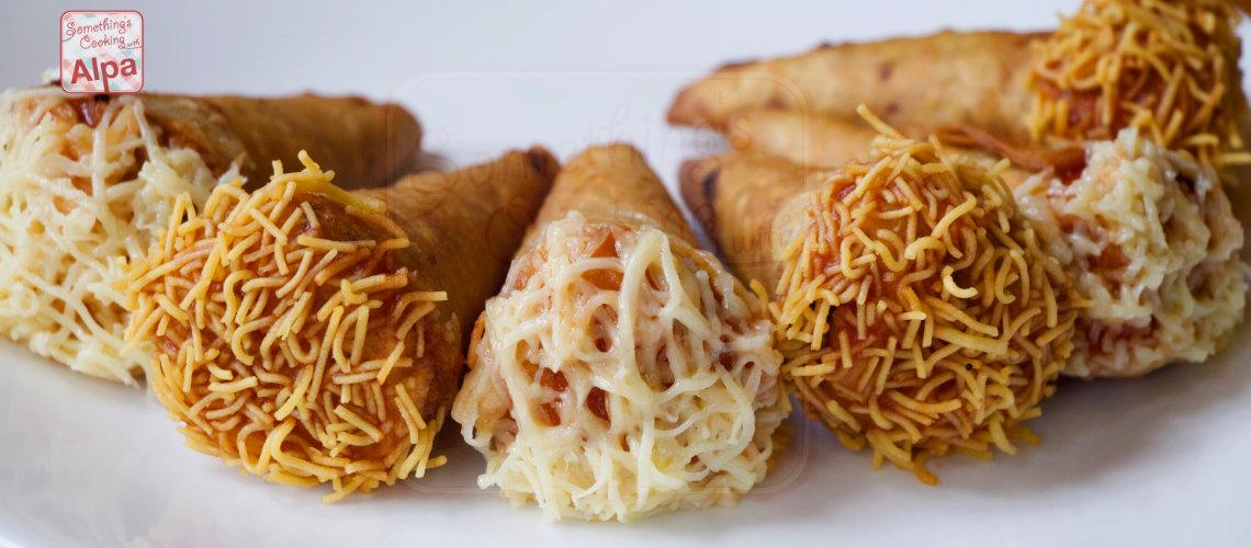 Quick &  Easy Cheesy Veggie Roti Cones
