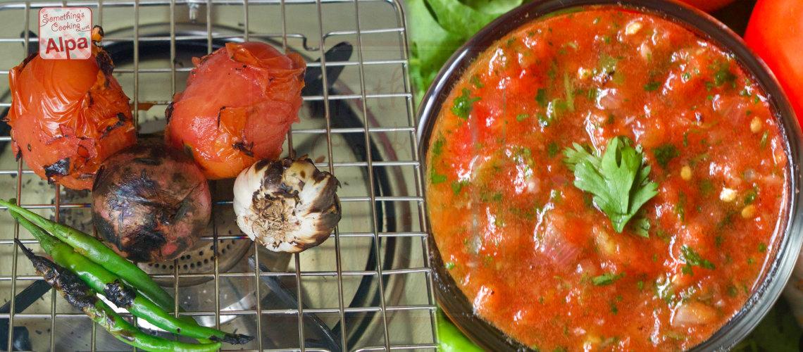 Roasted Spicy Tomato Chutney Recipe