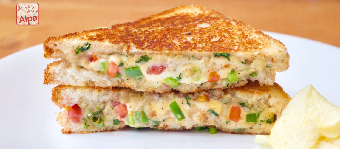 Best Cheesy Veg Sandwich Recipe